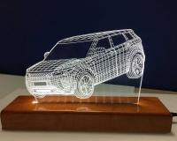 3d led lampa auto